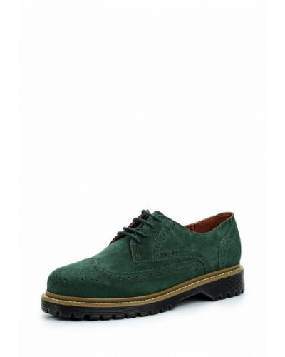 Ботинки на каблуке замшевые Bronx