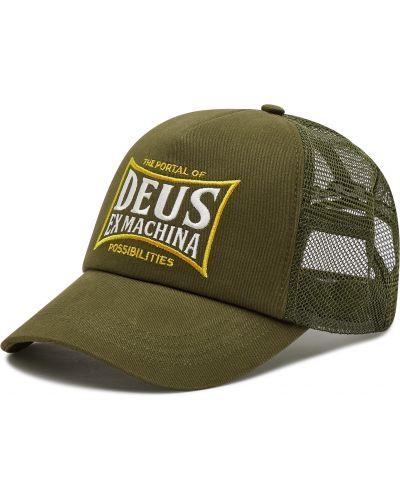 Zielona czapka z daszkiem Deus Ex Machina