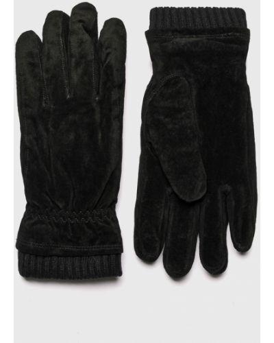 Кожаные перчатки замшевые Jack & Jones