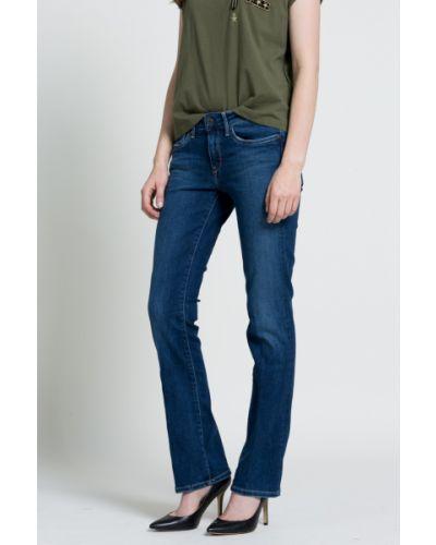 Джинсы с эффектом потертости буткат дудочки Pepe Jeans