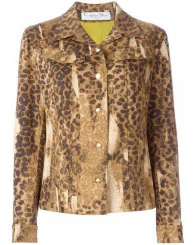 Классический пиджак джинсовый бежевый Christian Dior Vintage