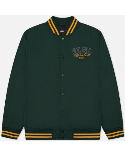 Зеленая куртка из полиэстера Vans