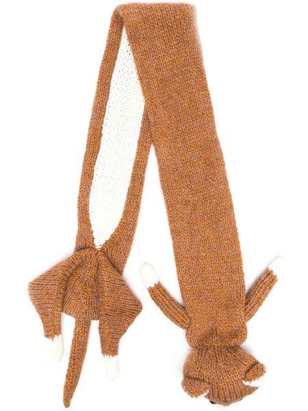 Brązowy szalik wełniany Doublet