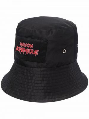 Черная хлопковая шапка Maison Bohemique