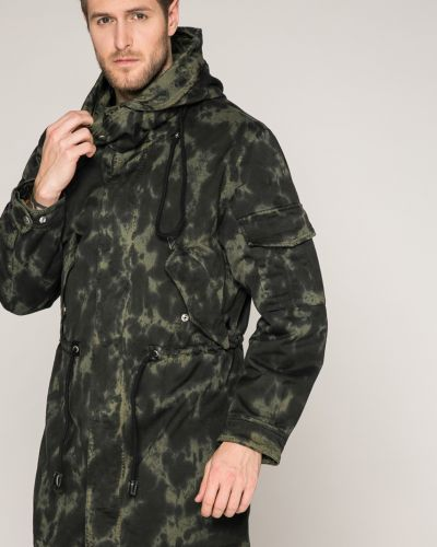 Утепленная куртка с капюшоном милитари Diesel