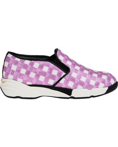 Слипоны белые фиолетовый Pinko