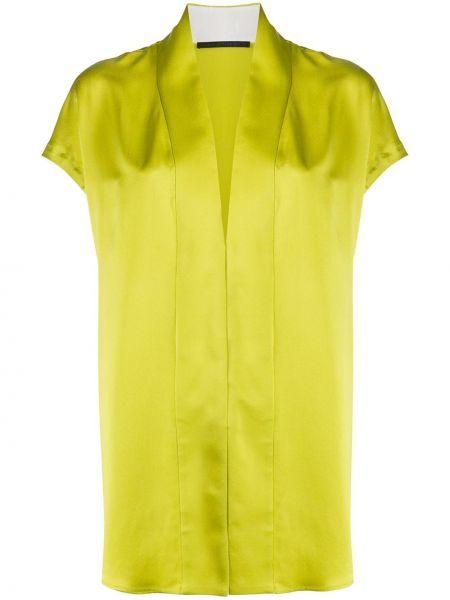 Шелковая блузка - зеленая Haider Ackermann