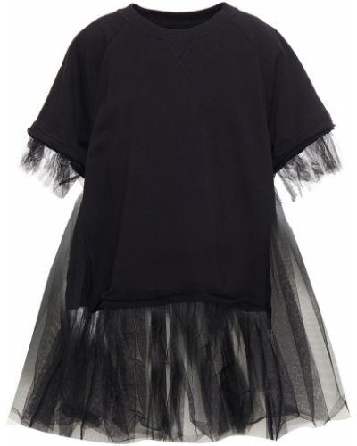 Czarny top bawełniany Mm6 Maison Margiela