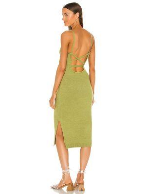 Текстильное зеленое платье винтажное Line & Dot