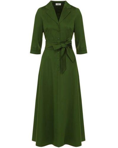 Платье с поясом платье-рубашка с V-образным вырезом Weill