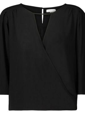 Черная блузка из вискозы Velvet