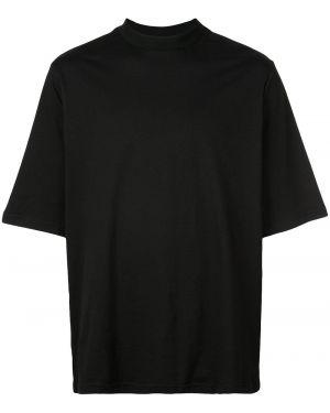 Черная футболка свободного кроя The Celect