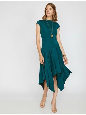 Zielona sukienka krótki rękaw Koton