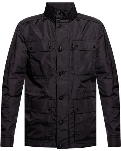 Czarna kurtka pikowana z kapturem Moncler