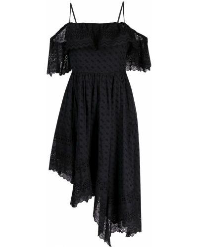 С ремешком черное платье квадратное Isabel Marant Étoile