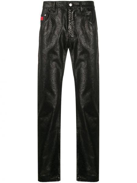 Czarne jeansy z wysokim stanem bawełniane Gcds