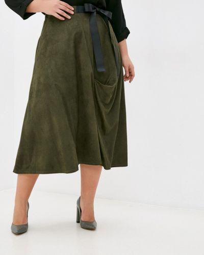 Зеленая кожаная юбка Svesta