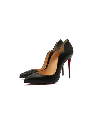 Черные французские туфли Christian Louboutin