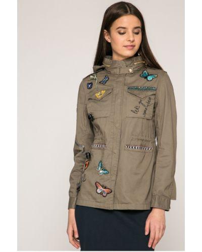 Куртка с капюшоном на пуговицах утепленная Desigual
