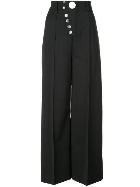 Szerokie spodnie z wysokim stanem wełniane Alexander Wang
