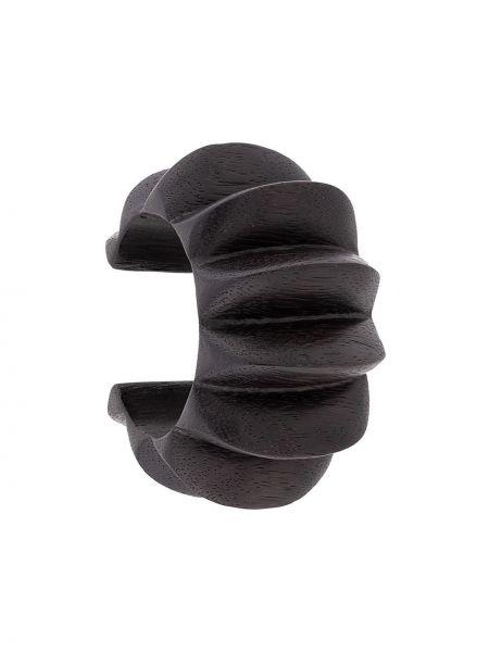 Черный браслет с шипами Josie Natori
