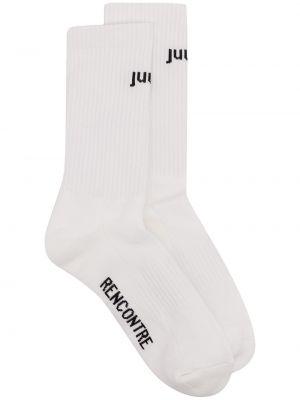 Białe skarpety bawełniane Juun.j