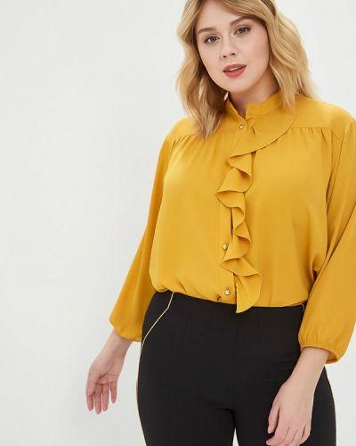 Блузка желтый весенний Over