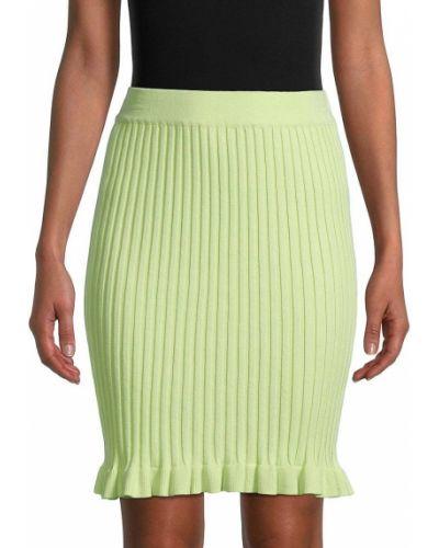 Облегающая хлопковая зеленая юбка макси Bcbgeneration