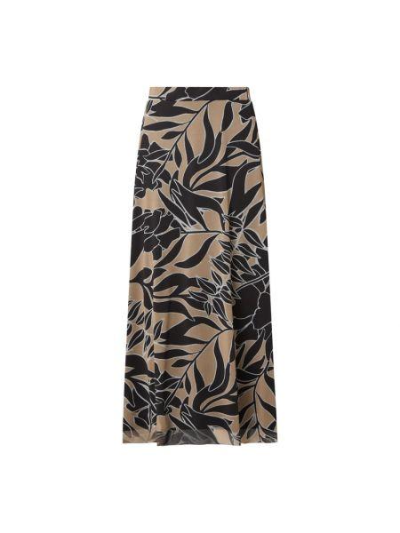 Czarna spódnica maxi rozkloszowana z wiskozy Comma
