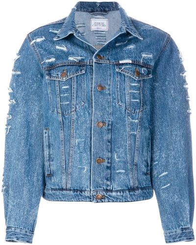 Джинсовая куртка синий Forte Couture