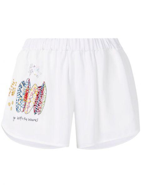 Белые пляжные шорты Mira Mikati