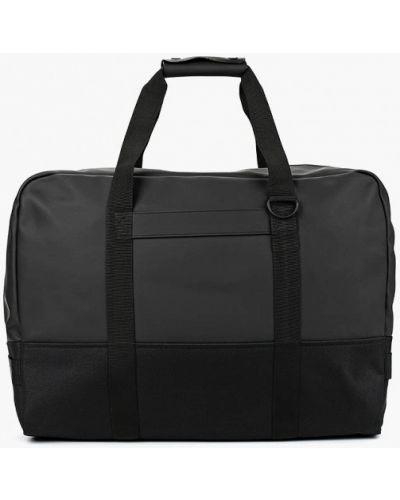 Кожаная сумка дорожняя черная Rains