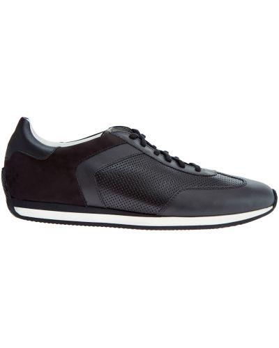 Кожаные кроссовки замшевые итальянские Santoni