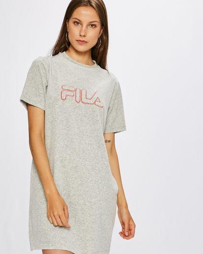 Платье мини однотонное свободного кроя Fila