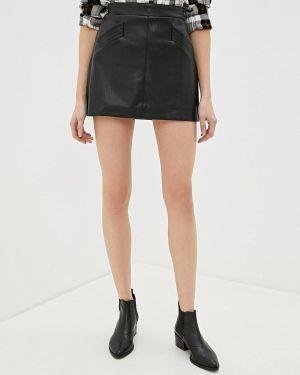 Кожаная юбка черная Art Love