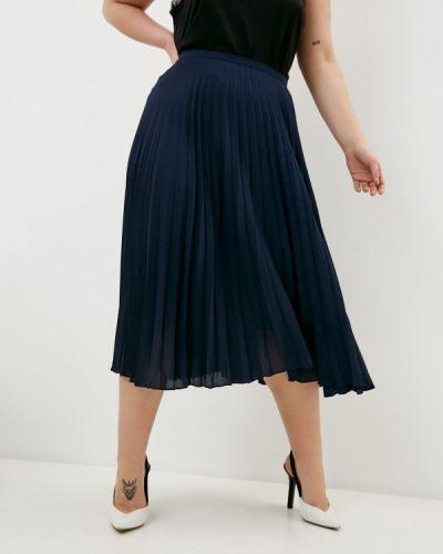Синяя плиссированная юбка Lauren Ralph Lauren Woman
