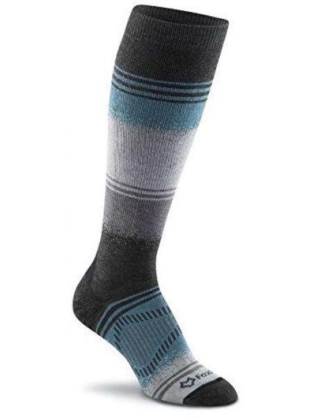 Коричневые шерстяные спортивные компрессионные носки высокие Foxriver