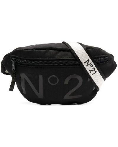 Нейлоновая черная поясная сумка на молнии Nº21 Kids