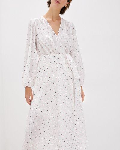 Прямое белое платье Doroteya