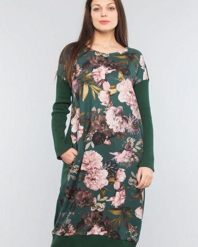 Повседневное зеленое платье Maxa