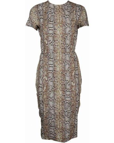 Sukienka - brązowa Victoria Beckham