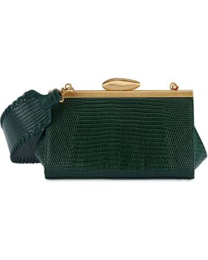 Zielona torebka mini skórzana z printem Reike Nen