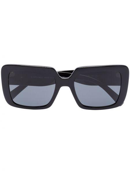 Муслиновые черные солнцезащитные очки квадратные Versace Eyewear