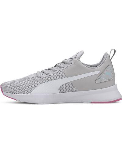 Спортивные серые кроссовки для бега на шнуровке сетчатые Puma