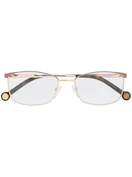 Желтые очки для зрения прямоугольные металлические Ch Carolina Herrera