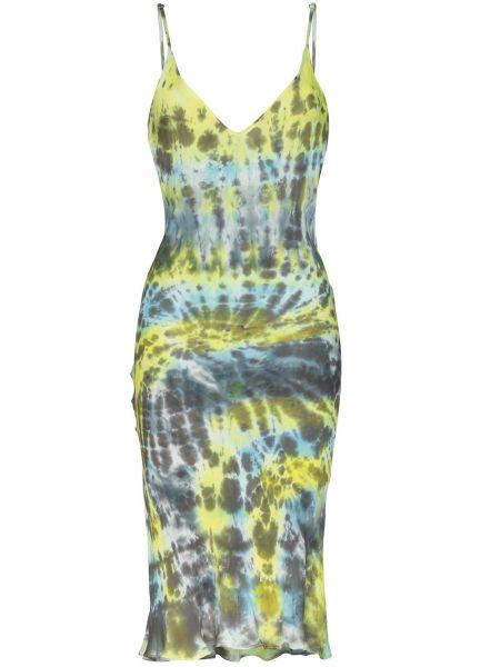 Sukienka z jedwabiu - niebieska Collina Strada