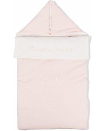 Różowa klasyczna torebka bawełniana Emporio Armani Kids
