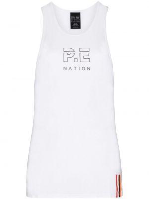 Хлопковый белый топ без рукавов P.e Nation