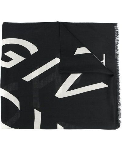 Czarny szalik wełniany Givenchy