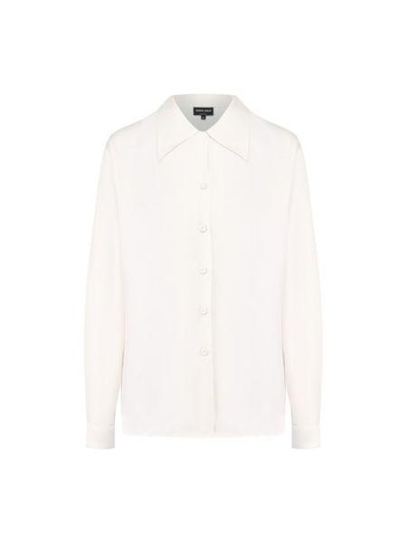 Деловая рубашка на пуговицах для офиса из плотной ткани Giorgio Armani